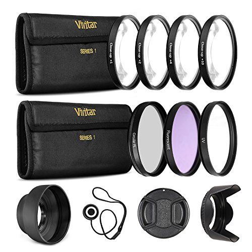 Ultrapro 55mm Professional Filter Bundle for Lenses with a 55mm Filter Size - Includes 7 Filters (UV, CPL, FL-D, 1, 2, 4, 10 Macro Close-Up Filters), Lens Hoods, More from Ultrapro