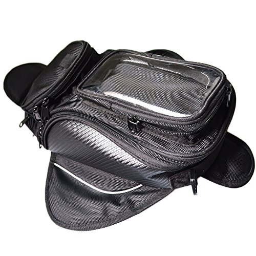 Motorbike Oil Fuel Tank Bag Waterproof Oil Fuel Tank Bike saddle bag (Big Screen Size) (Street Bike Saddlebag)