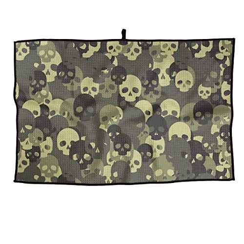 - SNMHILL Camouflage Skull Grid Cooling Portable Golf Towel Ice Sports Microfiber 23x14 Inches Travel Towel Chilly Player Towel