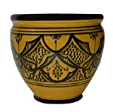 Flower Pot Moroccan Spanish Garden Drain Hole Ceramic Planter Handmade Review