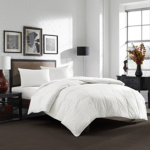 Eddie Bauer 550 Fill Power Lightweight White Down Comforter - Perfect For Summer (Oversized Queen) - Eddie Bauer Comforter
