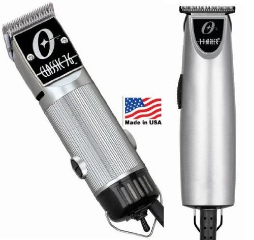 Combo Limited Edition Oster 76 and T Finisher Silver Clipper and Trimmer.