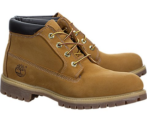 Timberland Men's Premium Waterproof Chukka Wheat Nubuck 10 M