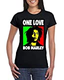 One Love Bob Marley Rasta Weed Smokers T-Shirt
