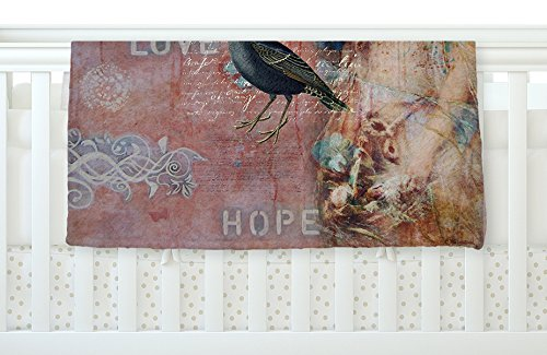 KESS InHouse Suzanne Carter ''Faith Hope Love'' Pink Typography, 30'' x 40'' Fleece Baby Blanket, 40'' x 30'' by Kess InHouse