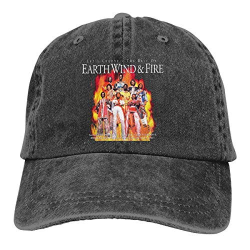 Earth Wind & Fire Unisex Adjustable Hat,Black Sunbonnet -