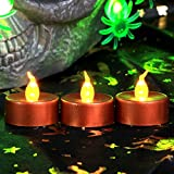 3PCS Christmas Decorations Flameless Tealight Candles Battery Operated (Red)