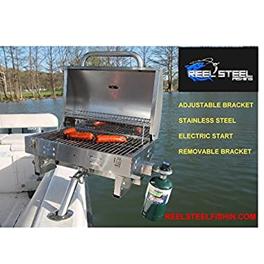 Boat Grill adjustable stainless steel propane