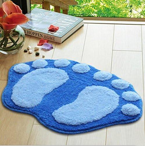 con piedini Tappetino antiscivolo per il bagno velluto corallo. 58.5*38.5cm Blu WeiMay