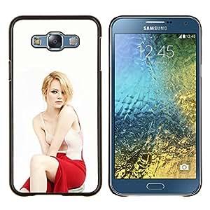TECHCASE---Cubierta de la caja de protección para la piel dura ** Samsung Galaxy E7 E700 ** --Donna Bionda Attrice
