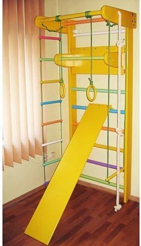 Casa – esquina interior de madera de gimnasia Parque Sueco escalera gimnasia sportcomplex, Height: 82,7in, Amarillo: Amazon.es: Deportes y aire libre