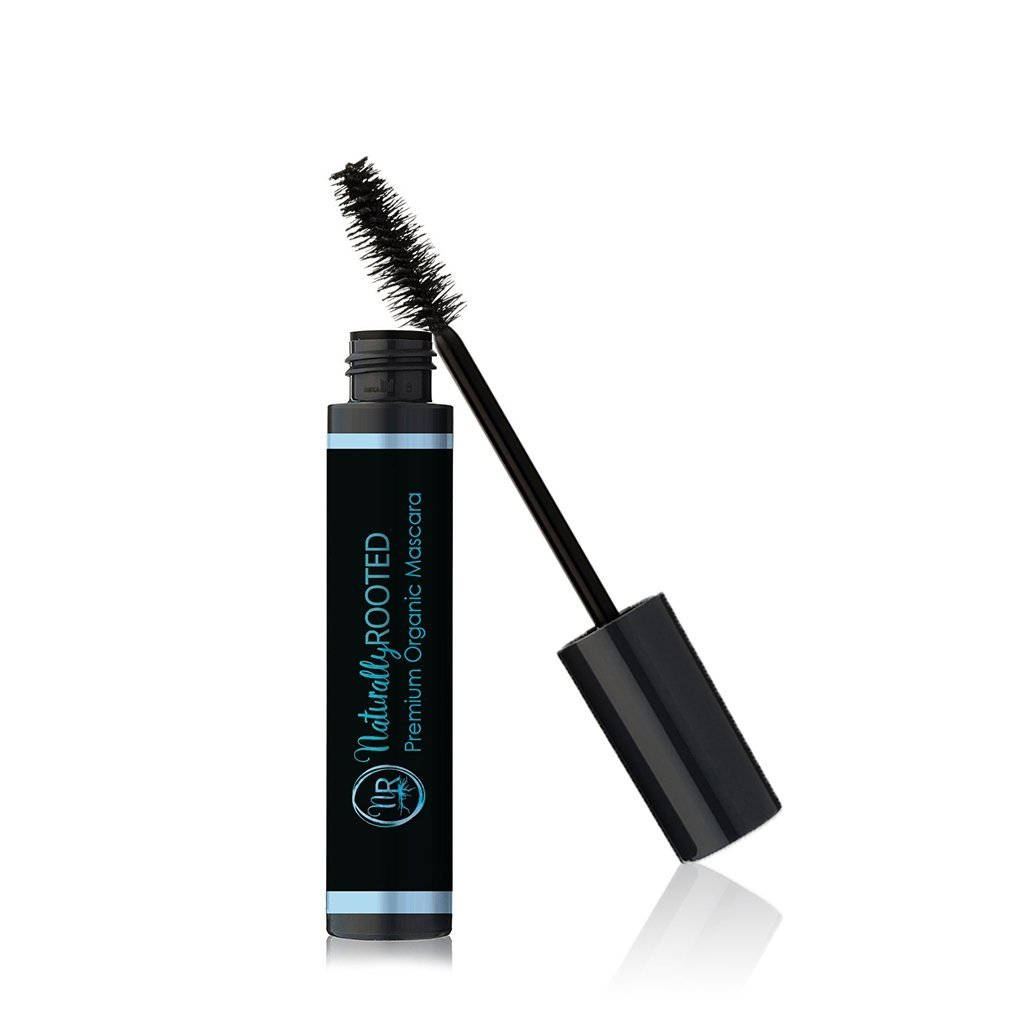 Premium Organic Mascara, Black- 100% Natural - 85% Organic - Enriched with Chamomile & Sunflower Oil - Paraben & Gluten Free, Strengthens & Moisturizes - Great for Sensitive Eyes - Made in USA