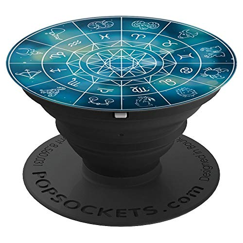 Zodiac Sign Chart, Astrology Horoscope - PopSockets Grip and Stand for Phones and Tablets ()