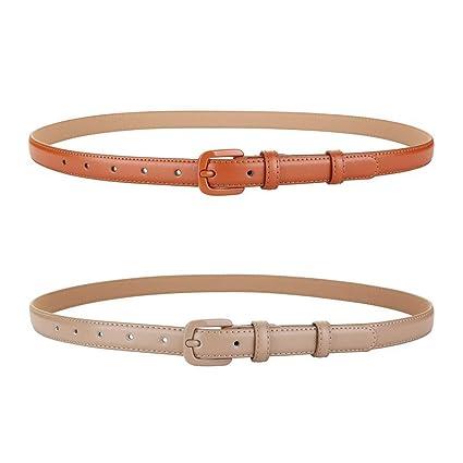 Amazon.com: Belt Leisure Womens Leather Paint Pin Buckle ...
