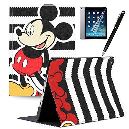 GSPSTORE iPad 9.7 2018/2017 Case with Auto Sleep/Wake Mickey and Minne Cartoon iPad Case Also Fit iPad Air 2/iPad Air#2