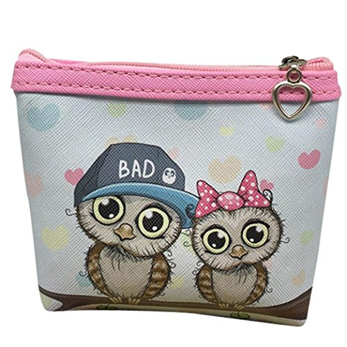 Womail Women Cute Mini Owl Zipper Handbags Girl ID Credit Card Coin Holder Wallet (G) by Womail (Image #1)