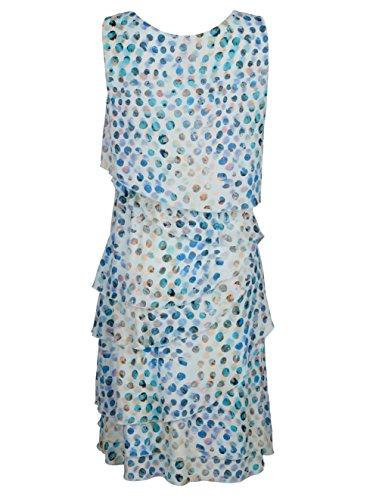 in Damen Lagenverarbeitung Moda Blau Alba Modischer Druckkleid CPtxaq