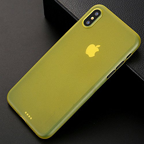 Yellow Gold Stock - Hot Selling In Stock Ultra Thin Transparent 0.3mm PP case for iPhone X (Golden Yellow)