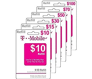 $70 T-Mobile Prepaid Phone Calling Card | Pay As You Go | Instant Refill | No Annual Contact ($70 Prepaid Minutes)