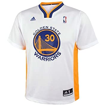 Adidas - Gorra del Equipo de Baloncesto de la NBA Golden State Warriors # 30 Stephen Curry Baloncesto Corto Camiseta Blanco, Blanco: Amazon.es: Deportes y ...