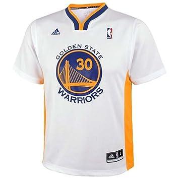 Adidas - Gorra del Equipo de Baloncesto de la NBA Golden State Warriors # 30 Stephen Curry Baloncesto Corto Camiseta Blanco, Blanco: Amazon.es: Deportes y ...
