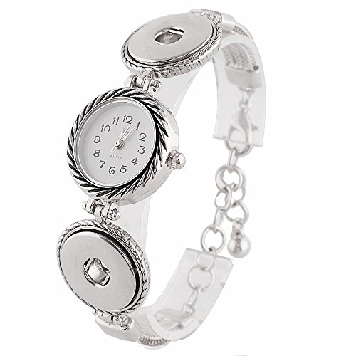 My Prime Gifts Interchangeable Snap Jewelry Watch Bracelet Adjustable Toggle by
