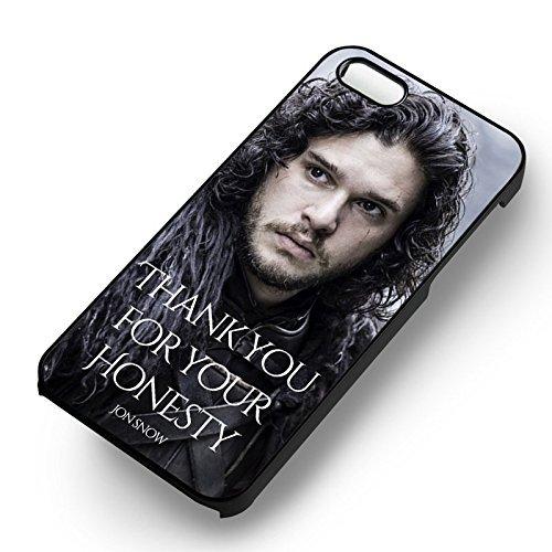 Jon Snow Honesty pour Coque Iphone 6 et Coque Iphone 6s Case (Noir Boîtier en plastique dur) J4N1GV