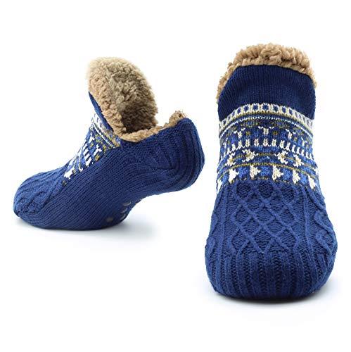 CityComfort Slipper Fluffy Socken für Frauen Männer Wärme Halten Socke Gestrickte Socken Wolle Sherpa Fuzzy Bett Hausschuhe Größe 5-8 Rutschfeste