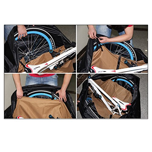Topnaca Soft Mountain Road Bikes Travel Case Transport Bag Bicycle Carrying Case with Fork Protector for Outdoor Airplane by Topnaca (Image #6)