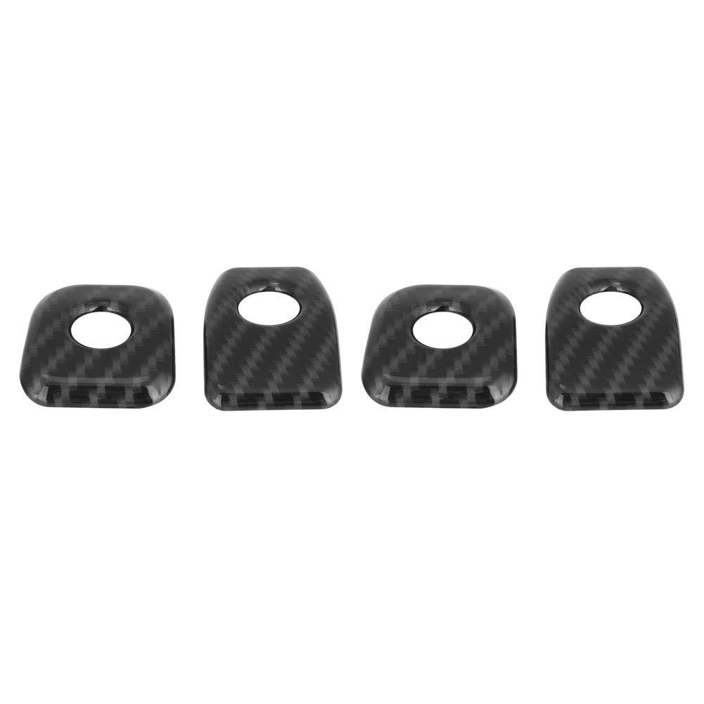 Black KIMISS Door Lock Pins Decorative Cover Trim for BMW X5 X6 F15 F16 14-18