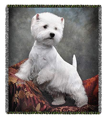 - Pooch Power Westie Tom Weigand Westland Highland Dog Tapestry Throw Blanket