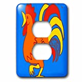3dRose lsp_204245_6 Print of Mexican Chicken In Bold Color - 2 Plug Outlet Cover