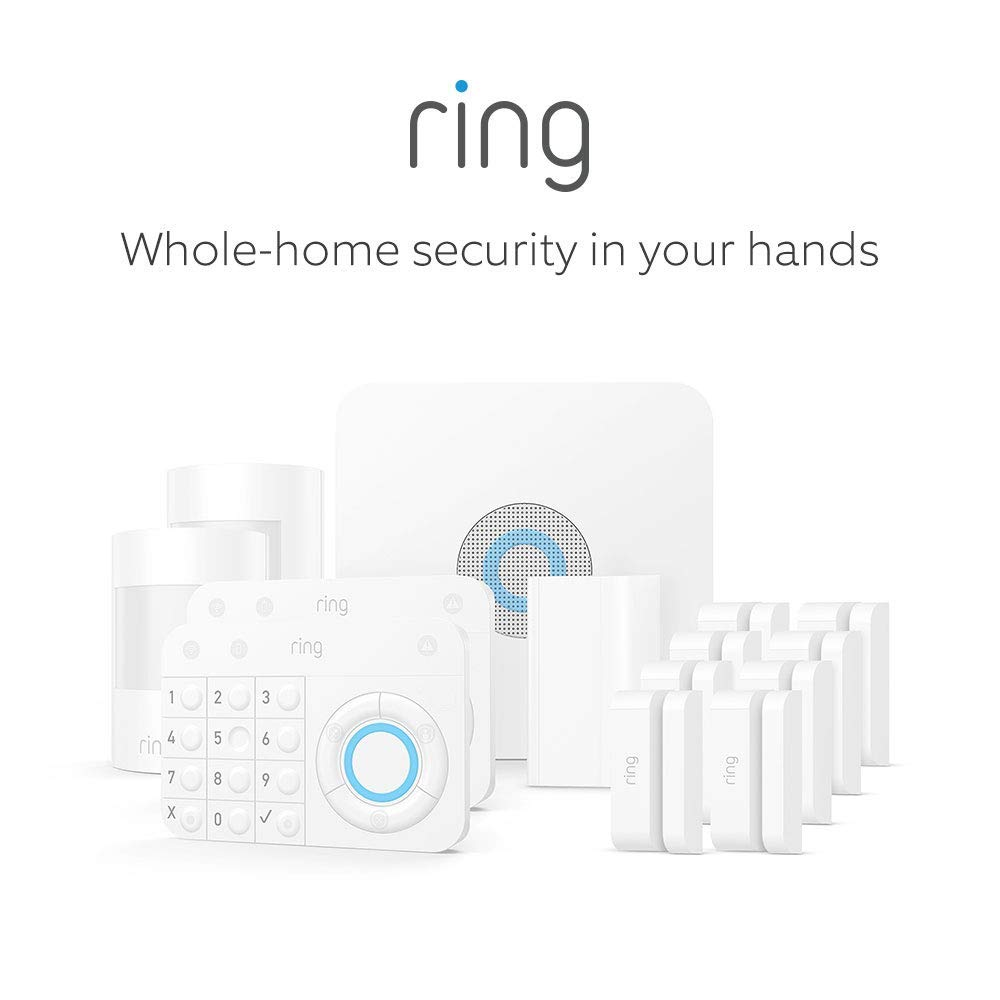Ring Alarm Starter Home Security Kit (5 Piece) - White
