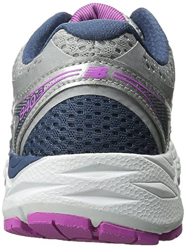 New Balance Women's W840V3 Running Shoe,Silver/Navy,9.5 D US