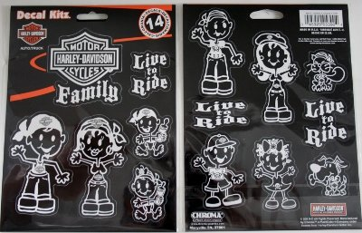 Harley Davidson Motorcycle 14 Pc Live to Ride Sticker Fun Family Decal Kit