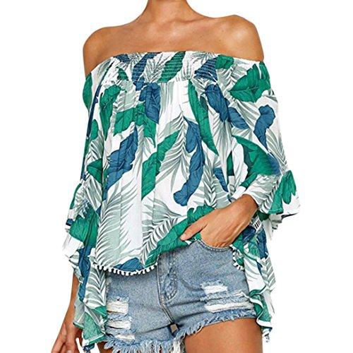 V Schiena Camicie Moda Manica Verde Indietro Top yesmile Scollo Nuda shirt Lunga Design Donna Eleganti Estate T A Sexy Canottiere wXYRUqx