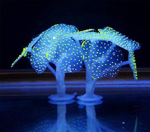 IUME Glowing Effect Artificial Coral Plant Aquarium Decorations For Fish Tank Aquarium