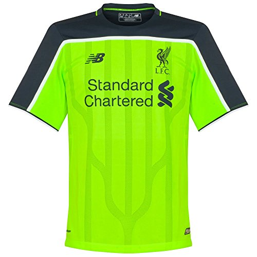 New Balance Liverpool FC 2016/17 Short Sleeve Third Jersey - Adult - Toxic -