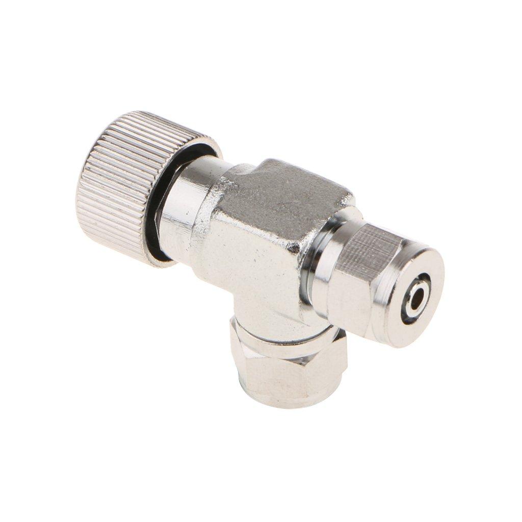 Homyl Aluminium Pr/äzise CO2 Ventil Nadelventil Regler 2-Wege Co2-Regler-Ventil verstellbar