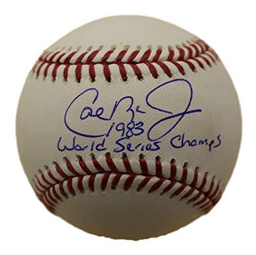 Cal Ripken Jr World Series - Cal Ripken Jr Signed Balt Orioles OML Baseball 83 World Series Champs JSA