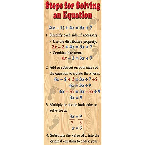Algebra Poster - McDonald Publishing MC-V1642 Algebra—Solving Equations Colossal Concept Poster, 18.1