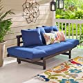 Outdoor Futon Convertible Sofa Daybed Deep Seating Adjustable Patio Furniture