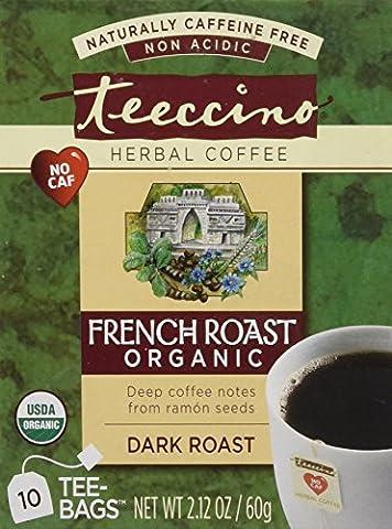 TEECCINO TEE-BAG,OG2,F/ROAST HERBL, 10 BAG - Caffeine Free Coffee