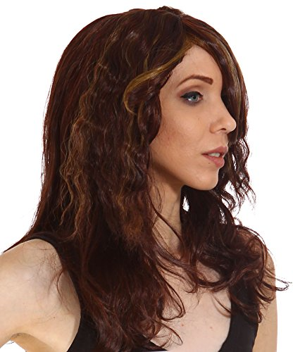 [Gardinesca Women's Long Wavy Curly Natural Looking Full Hair Wigs & Free Wig Cap] (Cool Halloween Costumes For Three Girls)