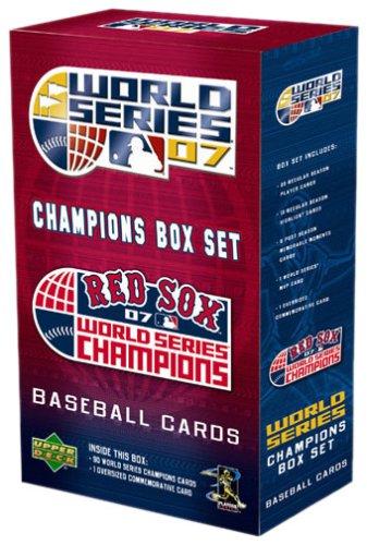Boston Red Sox 2007 World Series Champions Upper Deck MLB Commemorative Box Set (Series Deck Upper Mlb)