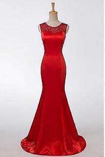 Color e Dress Pearl Decoration Mermaid Evening Dresses Long Formal Dresses