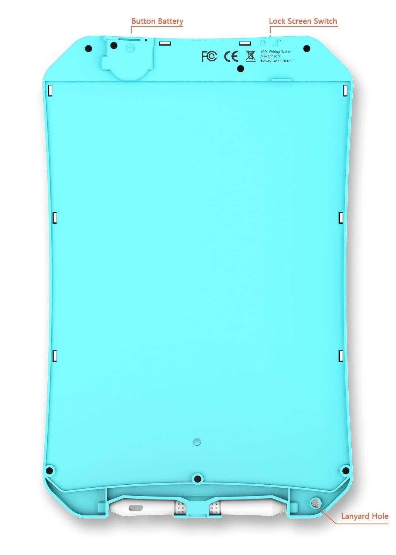 Pantalla a color-azul IGERESS M/ás nuevo 10 pulgadas Color Azul Pantalla LCD Tableta de escritura Tablero de dibujo Tablero de tableta Tableta de escritura electr/ónica ewriter