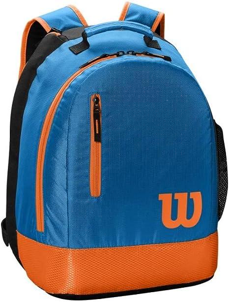 Blue//Orange WILSON Youth Backpack Tennis Bag Unisex 2 Rackets
