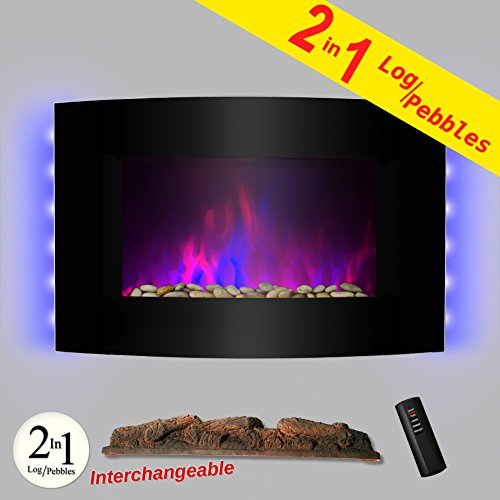 AKDY Adjustable Backlight Interchangeable Fireplace