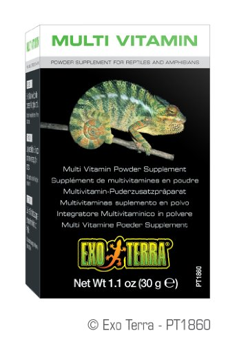 Exo Terra Multi Vitamin Powder Reptiles/Amphibians Supplement, 1.1-Ounce